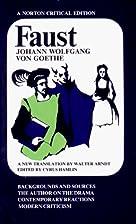 Faust (Norton Critical Editions) by Johann…