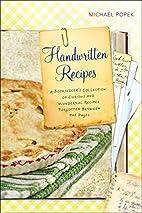 Handwritten Recipes: A Bookseller's…