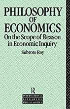 The Philosophy of Economics: On the Scope of…