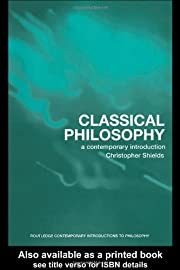 Classical Philosophy: A Contemporary…