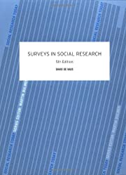 Surveys In Social Research (Social Research…