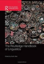 The Routledge Handbook of Linguistics…