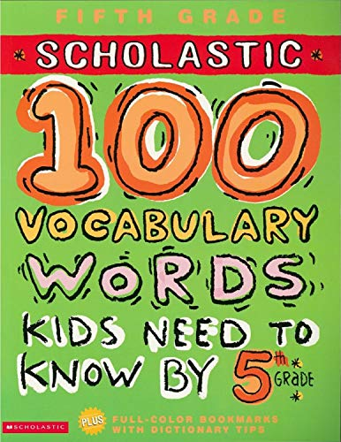 PDF] 100 Vocabulary Words Kids Need to Know by 5th Grade