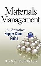 Materials Management: An Executive's…