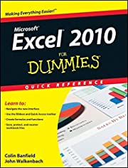 Excel 2010 For Dummies Quick Reference por…