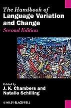 Handbook of Language Variation 2nd edition…