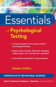 Essentials of Psychological Testing por…