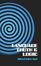 Language, Truth and Logic (Dover Books on…