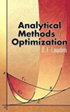 Analytical Methods of Optimization (Dover…