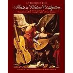 Anthology for Music in Western Civilization, Volume I