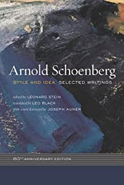 Style and Idea: Selected Writings de Arnold…