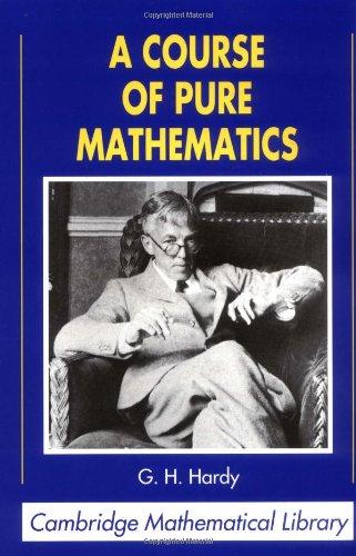 PDF] A Course of Pure Mathematics (Cambridge Mathematical