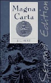 Magna Carta av James Clarke Holt