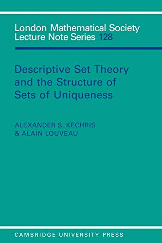 PDF] Descriptive Set Theory and the Structure of Sets of Uniqueness