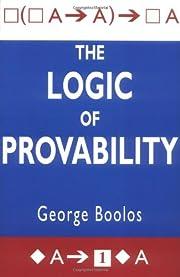 The Logic of Provability av George S. Boolos