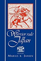 Warrior Rule in Japan (Cambridge History of…