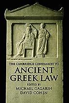 The Cambridge Companion to Ancient Greek Law…