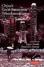 China's Great Economic Transformation…