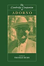 The Cambridge Companion to Adorno by Tom…