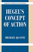 Hegel's Concept of Action by Michael Quante