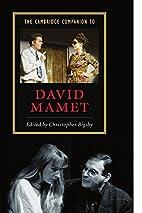 The Cambridge Companion to David Mamet…