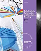 Data Analysis /Optimization / Simulation…