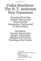 Codex Sinaiticus: the H. T. Anderson New…