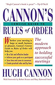 Cannon's Concise Guide to Rules of Order por…