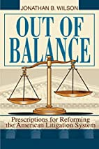 Out of Balance: Prescriptions for Reforming…