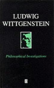 Philosophical Investigations de Ludwig…