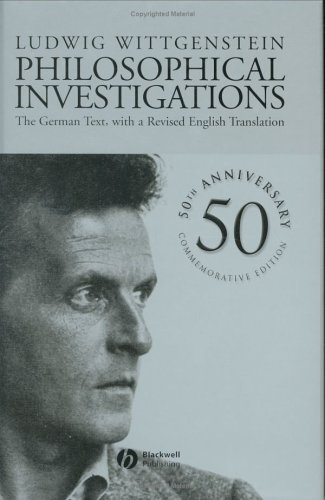 Philosophical Investigations, by Wittgenstein, L.