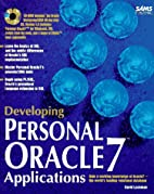 Developing Personal Oracle 7 Applications by…