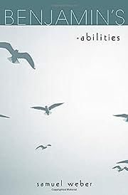 Benjamin's -abilities de Samuel Weber