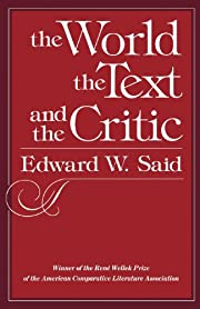 The World, the Text, and the Critic af…