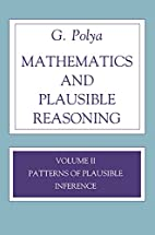Patterns of Plausible Inference by George…