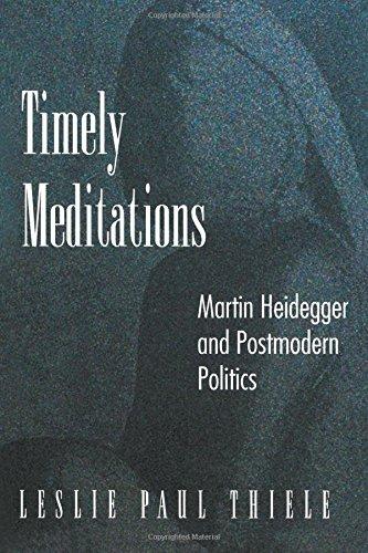 Timely Meditations: Martin Heidegger and Postmodern Politics, Thiele, Leslie Paul