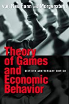 Theory of Games and Economic Behavior…