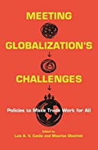 Meeting Globalization's Challenges:…