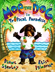 Moe the dog in tropical paradise av Diane…