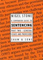 A Companion Guide to Sentencing: Specific…