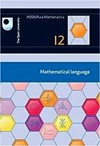 Mathematical Language: Unit 12