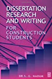 Dissertation Research   Writing for Construction Students  Amazon co uk  S   G  Naoum                 Books