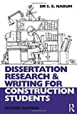 Dissertation research and writing for construction students   S G      Dissertation research and writing for construction students   S G  Naoum