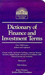 Dictionary of Finance and Investment Terms…