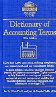 Dictionary of Accounting Terms (Barron's…