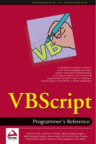 PDF] VBScript: Programmer's Reference | Free eBooks Download
