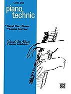 Piano Technic: Level 1 (David Carr Glover…