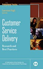 Customer service delivery : research and…