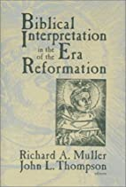 Biblical Interpretation in the Era of the…