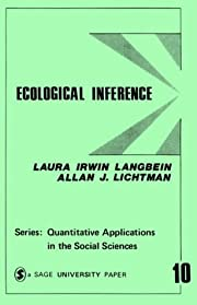 Ecological Inference (Quantitative…